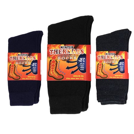 Falari 6-Pack Men's Winter Thermal Socks Ultra Warm Best For Cold Weather Out Door Activities