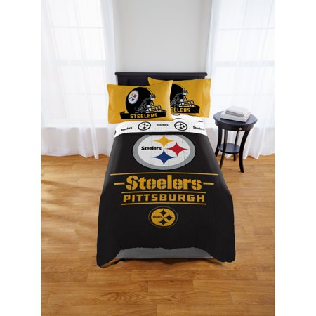 NFL Pittsburgh Steelers Monument Twin & Full Comforter Set, 1