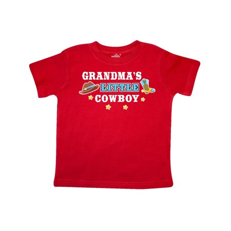Grandmas Little Cowboy with Cowboy Hat and Boots Toddler T-Shirt - Cowboy Hats And Boots