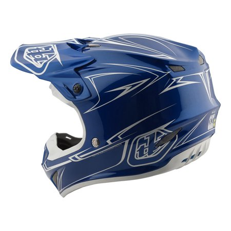 2018 Troy Lee Designs SE4 POLYACRYLITE PINSTRIPE BLUE MD