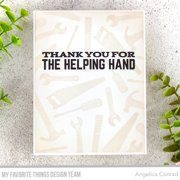 """My Favorite Things Vault Clear Stamps 4""""X8""""-Let's Tool Around"""