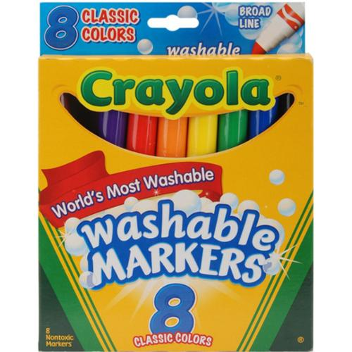 Crayola Washable Markers, Classic Colors 8 ea (Pack of 6)