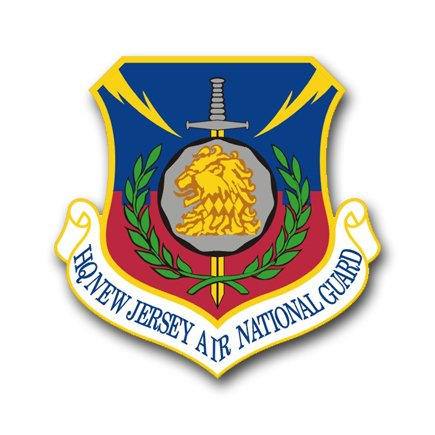3.8 Inch Air Force Headquarters New Jersey Air National Guard Vinyl Transfer Decal