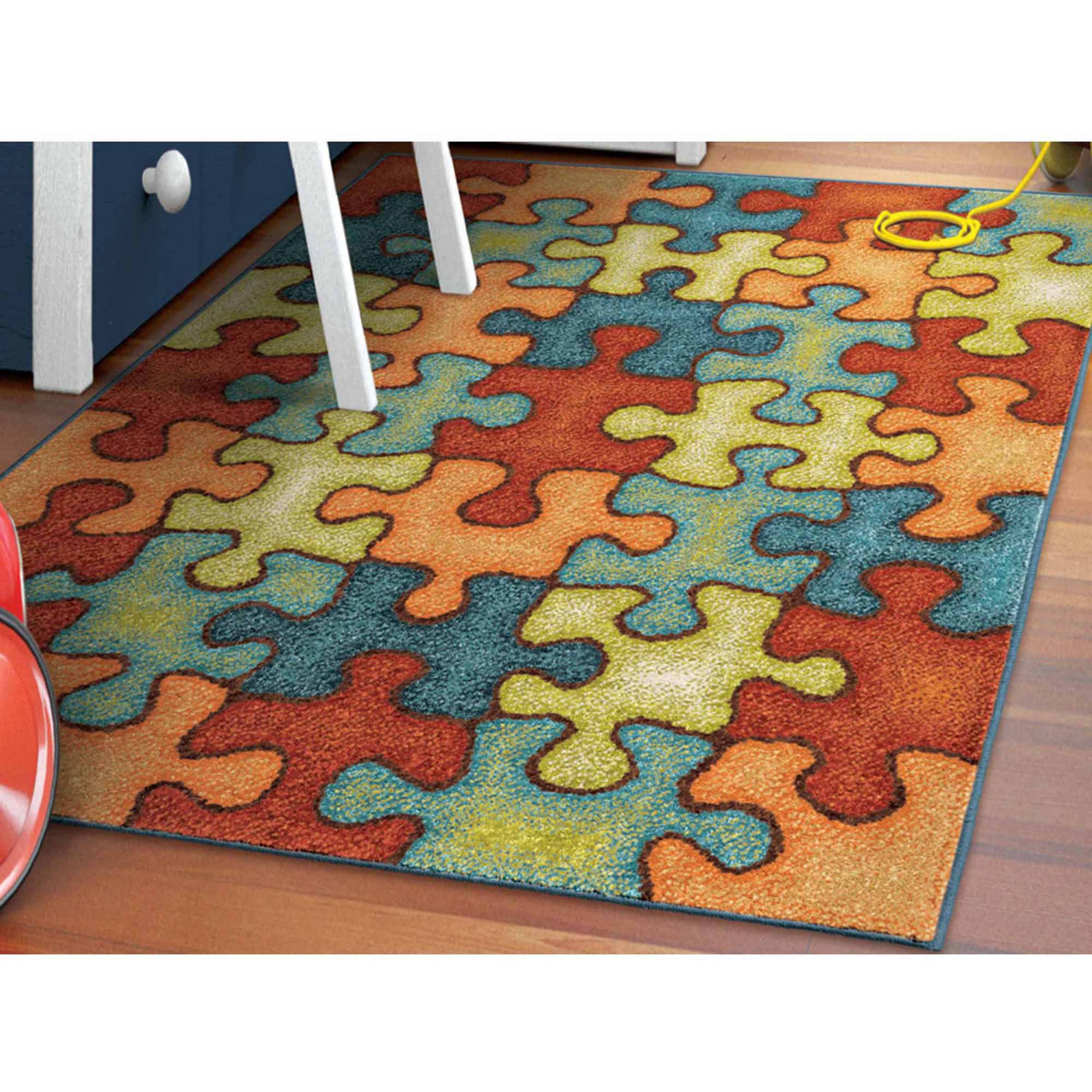 Orian Rugs Perplexed Puzzle Multi-Color Area Rug