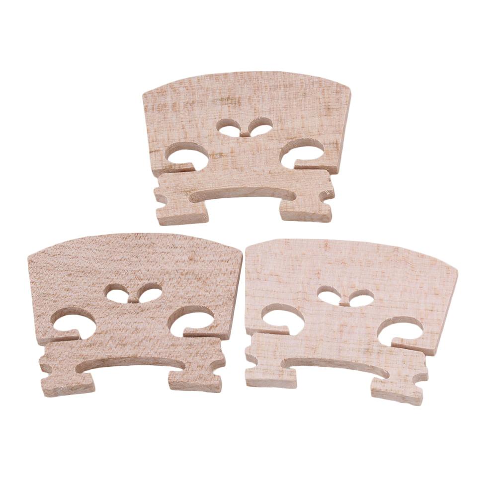 BQLZR Beige Adjustable Violin Bridge Wood for 1 2 Violin Fiddle Accessoriess Pack of 3 by