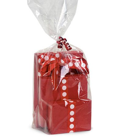 Clear Cello Bags (10pack Clear Cello/cellophane Bags Gift Basket Packaging Bags Cello Bags 30