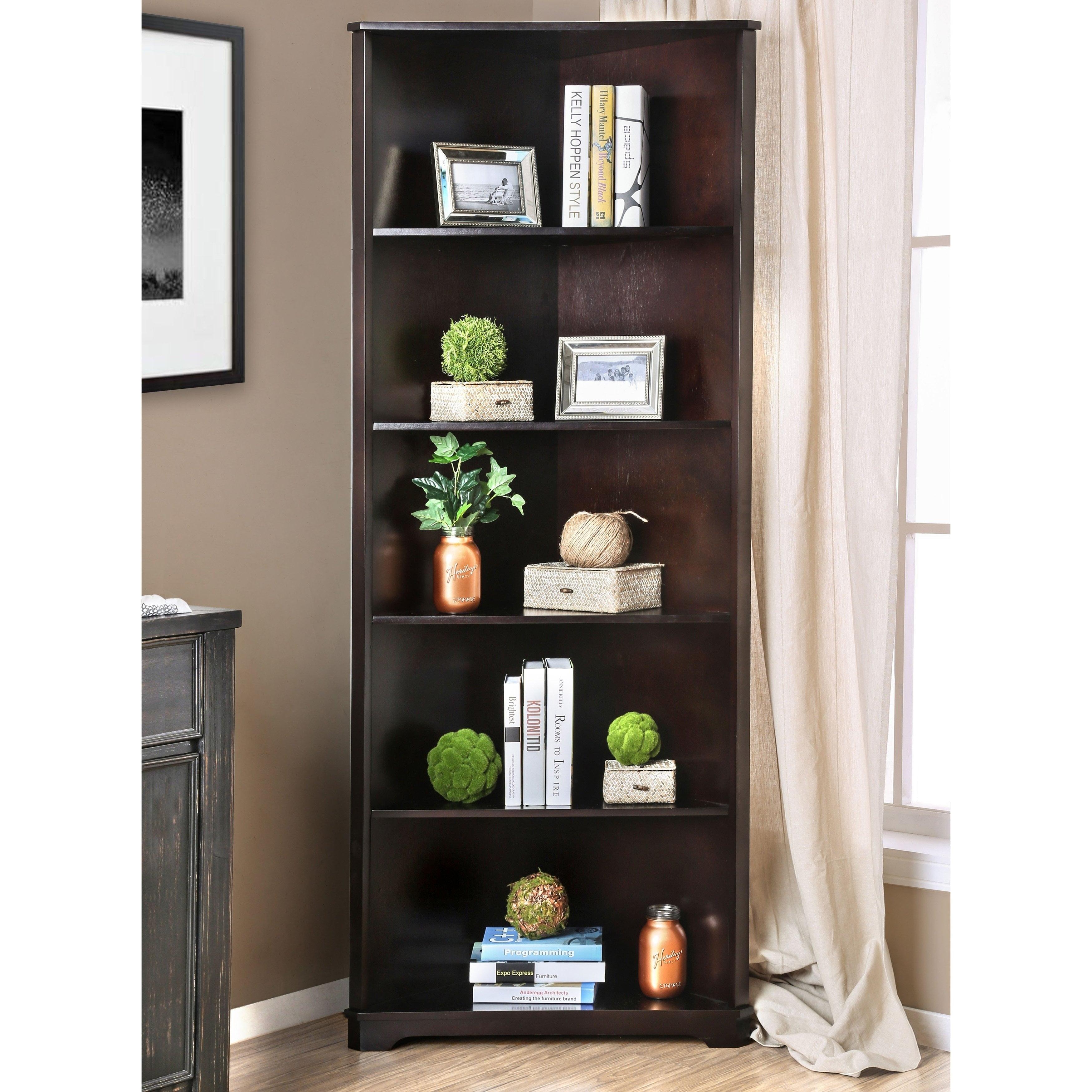 Furniture Of America Copley Contemporary Solid Wood Corner