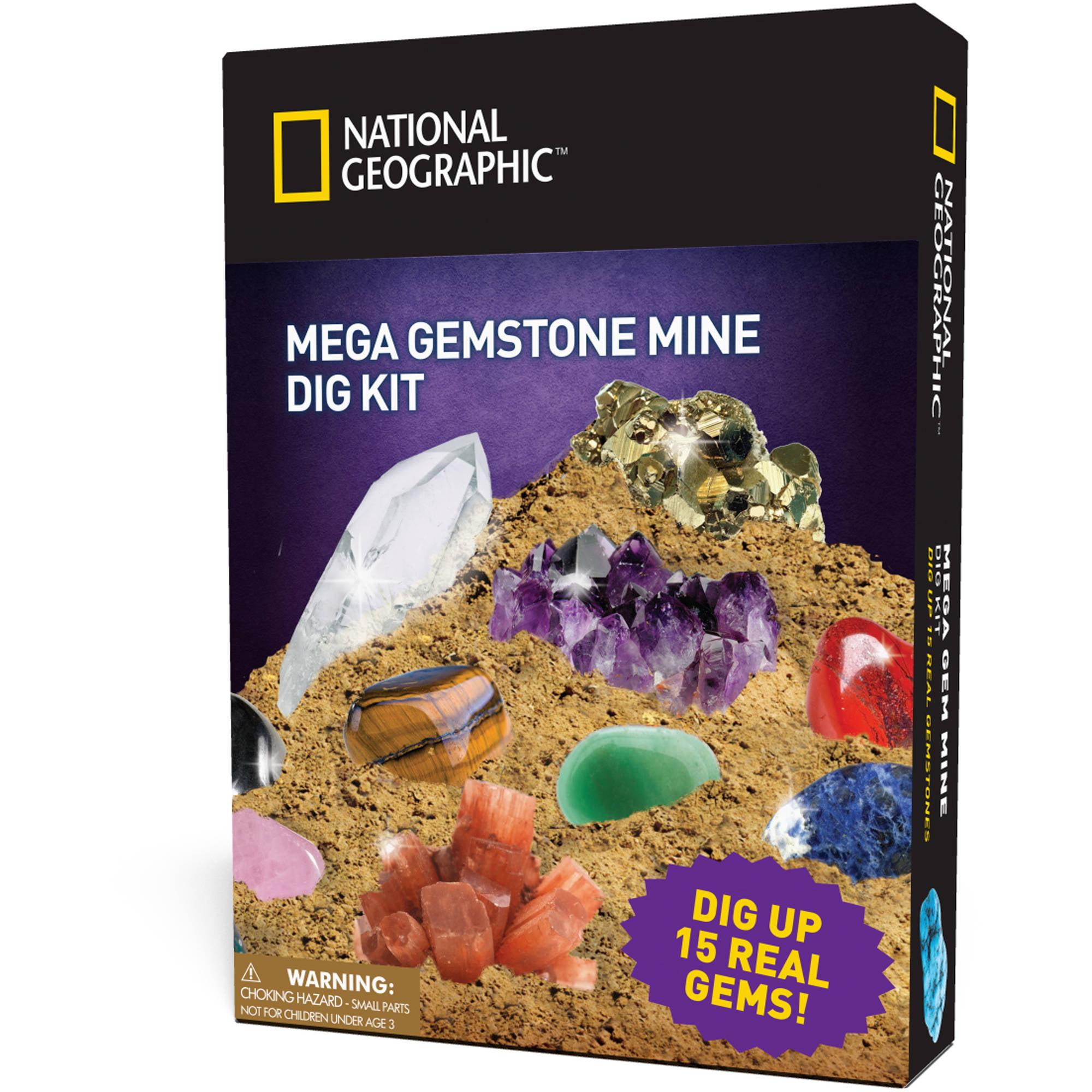 National Geographic Super Gemstone Dig Kit - Walmart.com