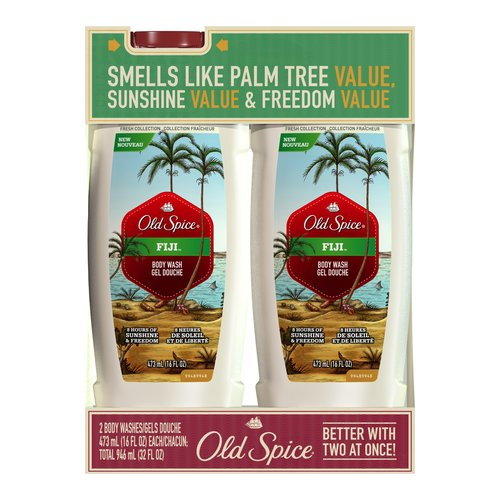 Old Spice Fresh Collection Fiji Body Wash, 16 oz (Pack of 2)