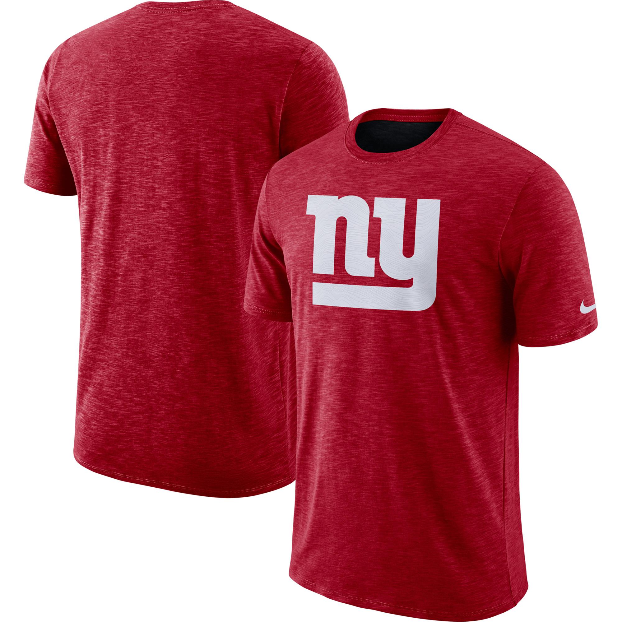 New York Giants Nike Sideline Cotton Slub Performance T-Shirt - Red