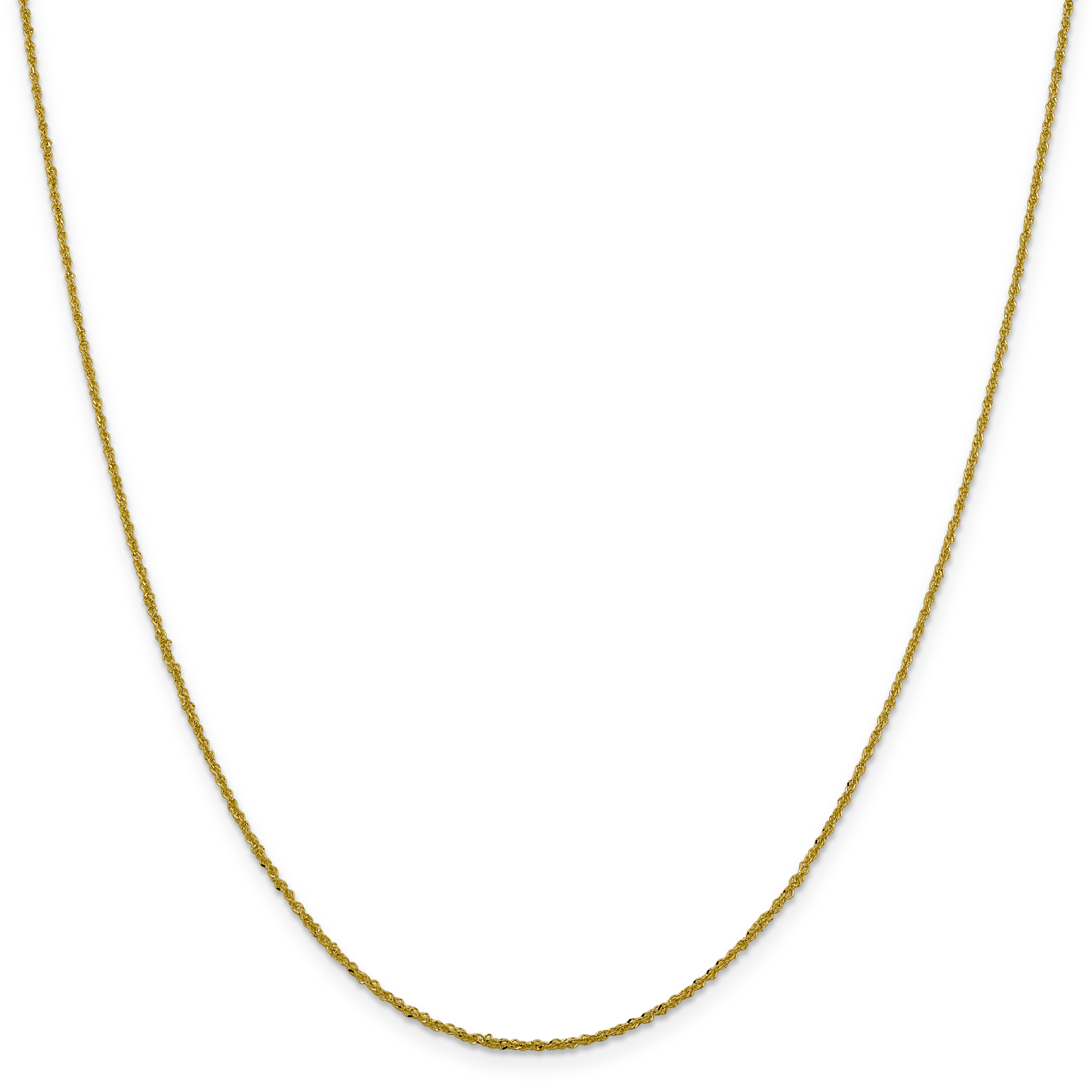 14k Yellow Gold 16in 1.30mm Sparkle Singapore Necklace Chain