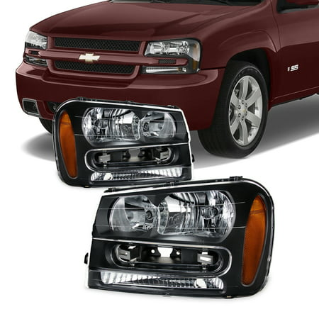 Fit 2002-2009 Chevy Trailblazer Replacement Headlights 02 03 04 05 06 07 08