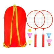 Tomshoo Badminton Racket for Children 1 Pair, Nylon Alloy Pracitical Professional Racquet Set for Children Indoor/Outdoor Sport Game