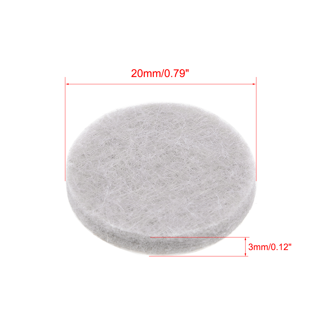 Furniture Pads Adhesive Felt Pads 20mmx3mm Floor Protector Round Beige 32Pcs - image 5 of 6