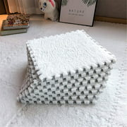 Foam Plush Crawling Mat Suitable for Chi's Play Area Living Room Bedroom Gym - fect Home Decoration (10 Pcs)White
