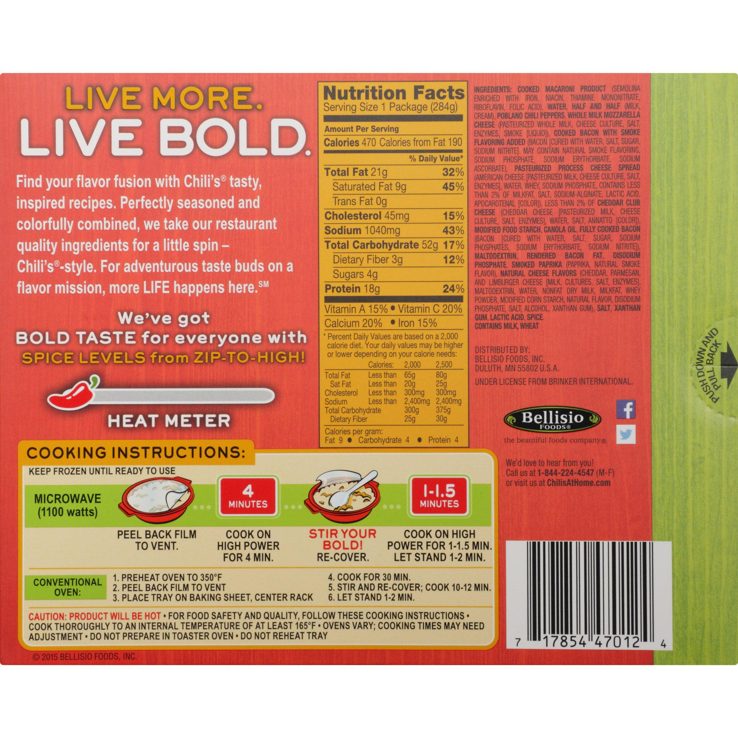 Chili's Bacon Mac 'n' Cheese Frozen Dinner 10 Oz Box Walmart Line A Baking  Sheet With