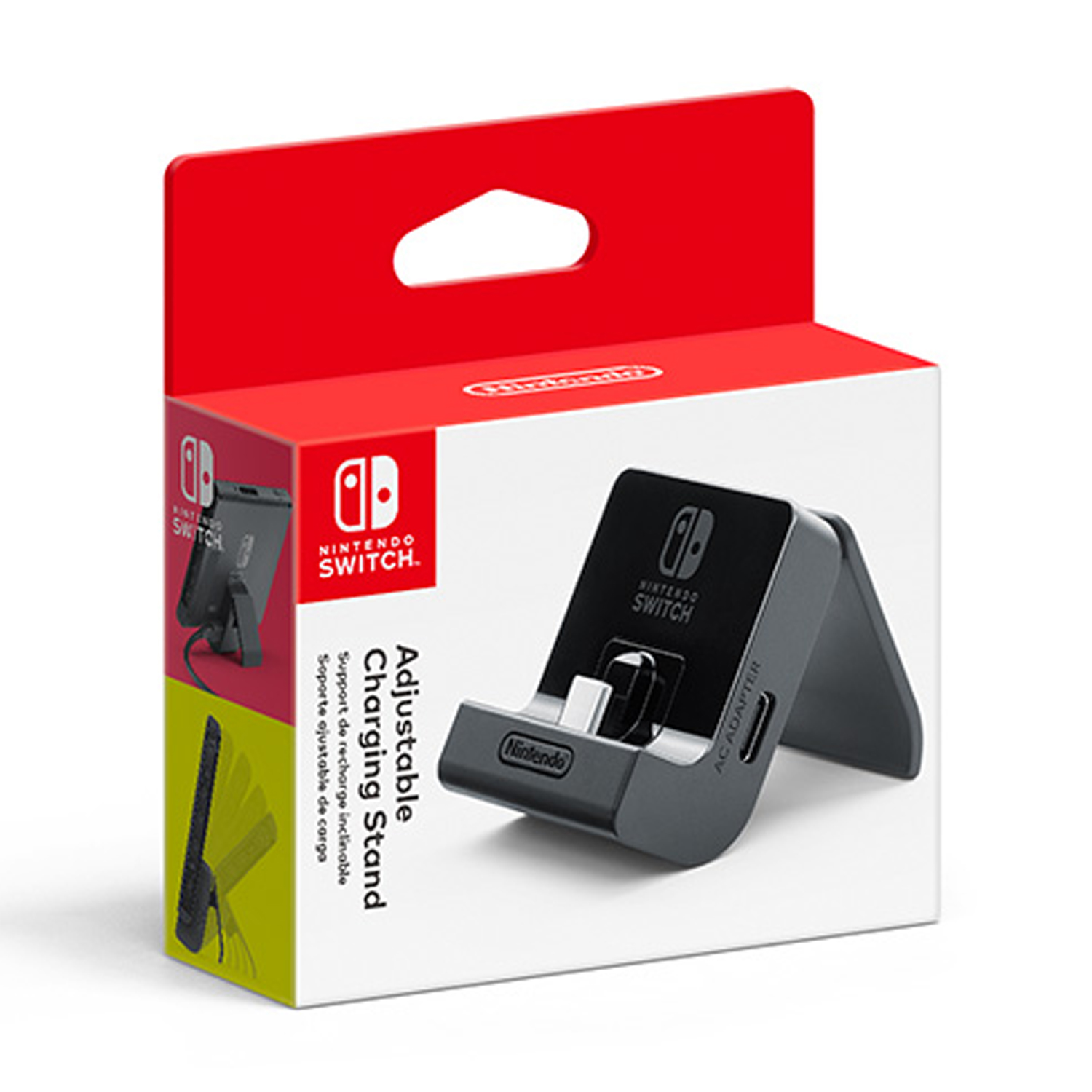 Nintendo Switch, Adjustable Charging Stand, Black, HACACDTKA