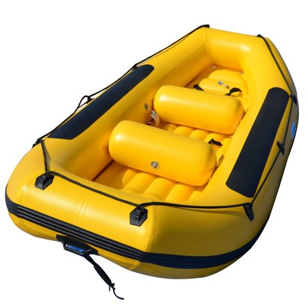 BRIS 12Ft Inflatable Boat White Water River Raft Inflatable River Lake Dinghy