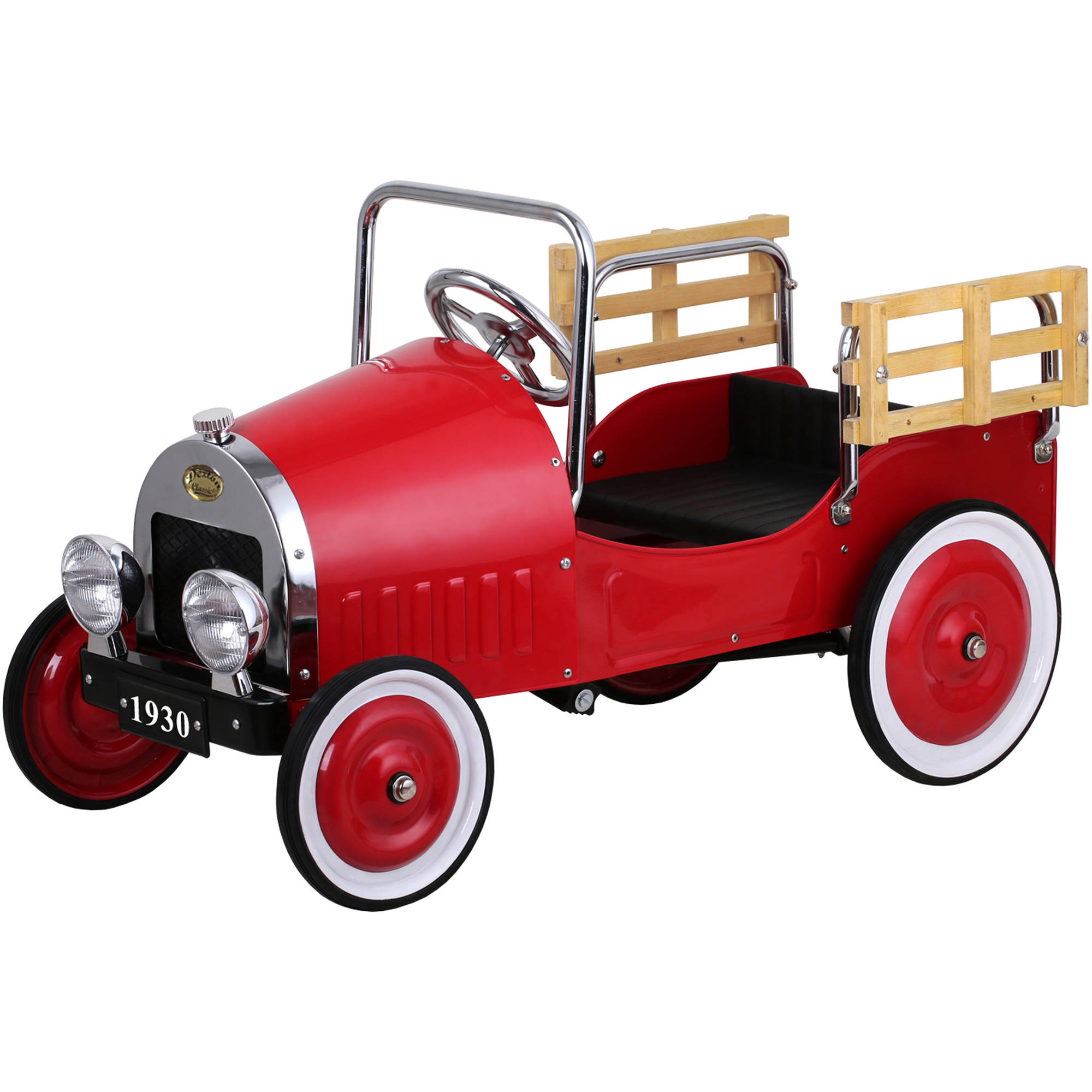 Retro Pickup Truck Pedal Car, Red
