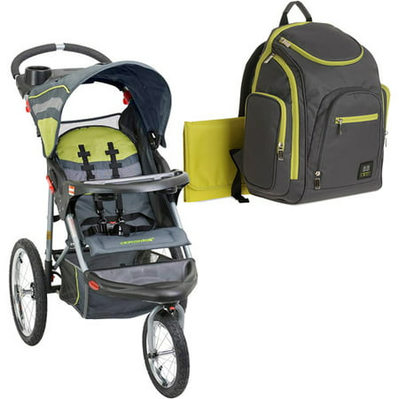 Baby Trend Expedition Jogging Stroller With Bonus Backpack