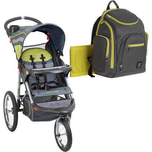 Baby Trend Expedition Jogging Stroller with Bonus Backpack Diaper Bag