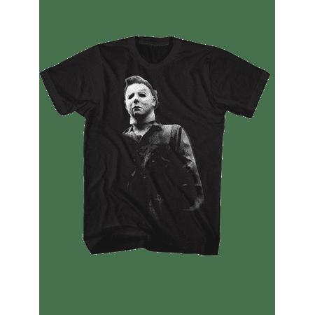 Dvs Black T-shirt (Halloween Movie Michael Myers BOO Tee Shirt - Black,)