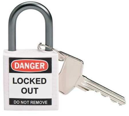 """Lockout Padlock,KD,White,1-2/5""""H BRADY 143162"""