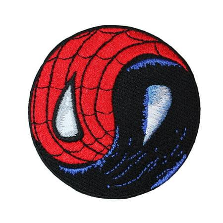 Amazing Spider Man Appliques - Spider-Man vs Venom Symbiote Yin-Yang Patch Superhero Comic Fan Iron-On Applique