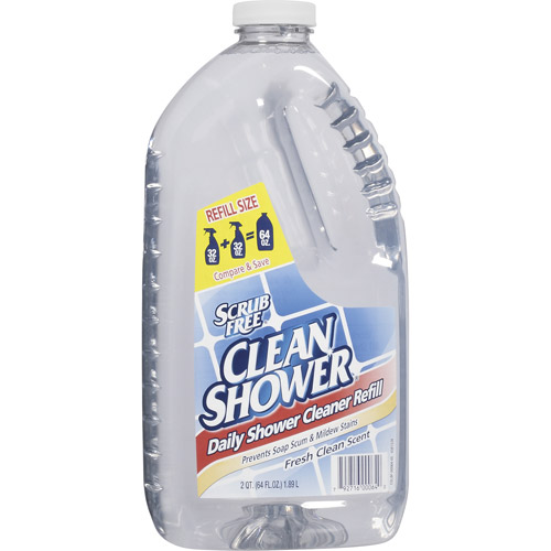 Arm & Hammer Clean Shower Fresh Clean Scent Daily Shower Cleaner Refill, 64 oz