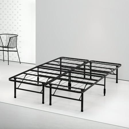 spa sensations by zinus steel smart base bed frame black multiple sizes. Black Bedroom Furniture Sets. Home Design Ideas