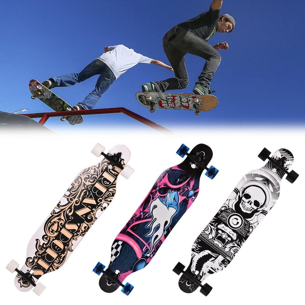 """41""""Wood Skateboard Print Longboard Drop Downhill Speed Skateboard by Generic"""