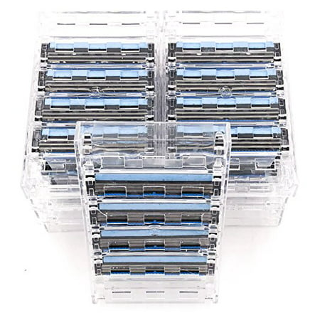 36 Taconic Shave Triple Blade Razor Cartridges - For all Gillette Sensor and Personna Tri-flexxx