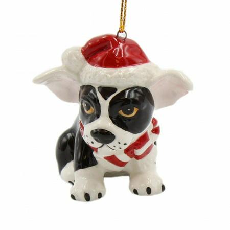 Boston Terrier Dog Ornament - Christmas Boston Terrier Ornament