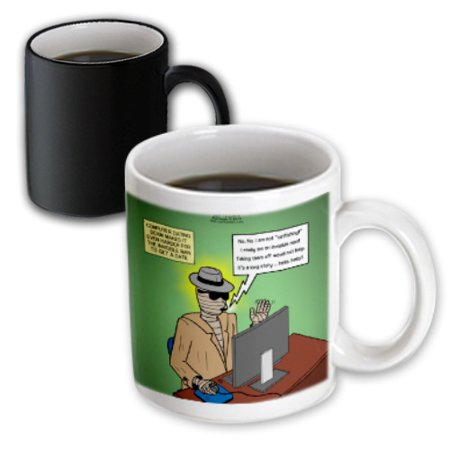 3dRose Invisible Man Internet Dating and Web Catfishing, Magic Transforming Mug, 11oz