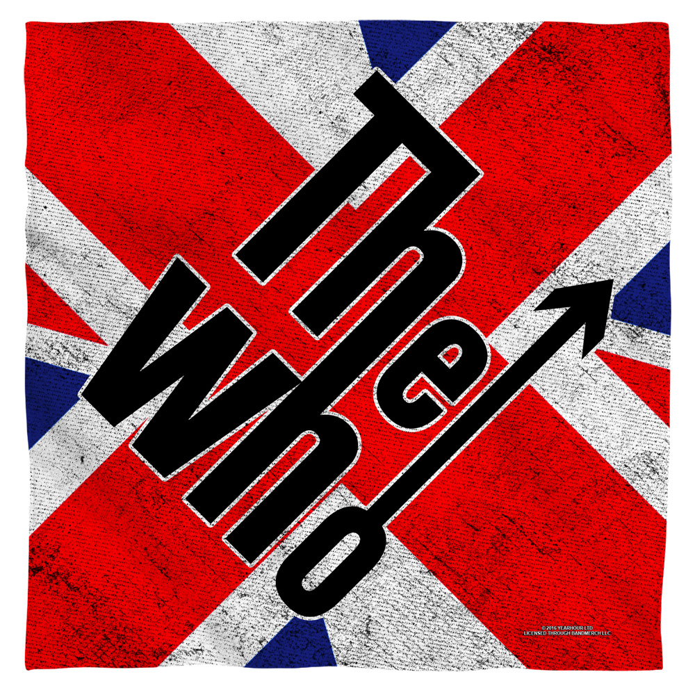 The Who Who Flag Bandana White 22X22 White 22X22