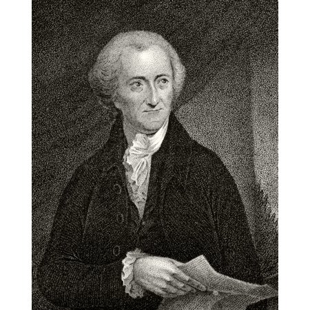 George Read 1733 To 1798 American Statesman And Founding Father A Signatory Of Declaration Of Independence 19Th Century Engraving By JB Longacre From A Painting By Pine Stretched Canvas - Ken Welsh