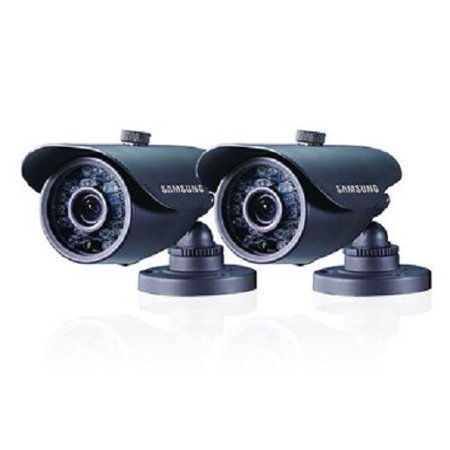 Refurbished Samsung SDC-5440BCD Indoor/Outdoor Bullet Camera, 2pk - Black