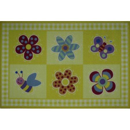 - fun rugs olive kids flowerland rug - 3'3'' x 4'10''