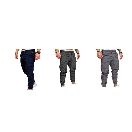 Boyijia Mens Pocket Pants Casual Elastic String Fashion Long Trousers Joggers - image 2 of 8