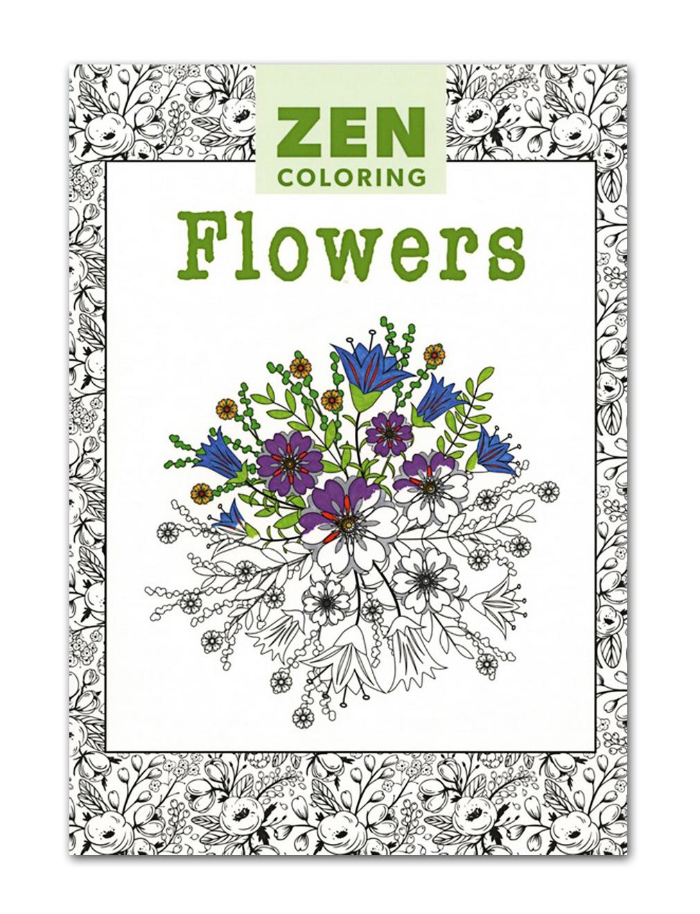- Zen Coloring Book: Flowers Walmart Canada