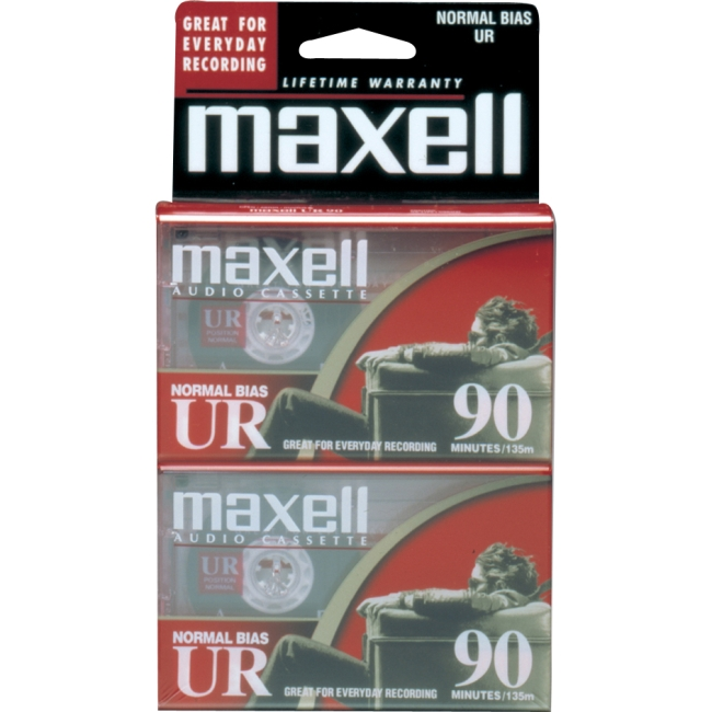 MAXELL 90 MIN NORMAL BIAS AUDIO CASS - 2 PK