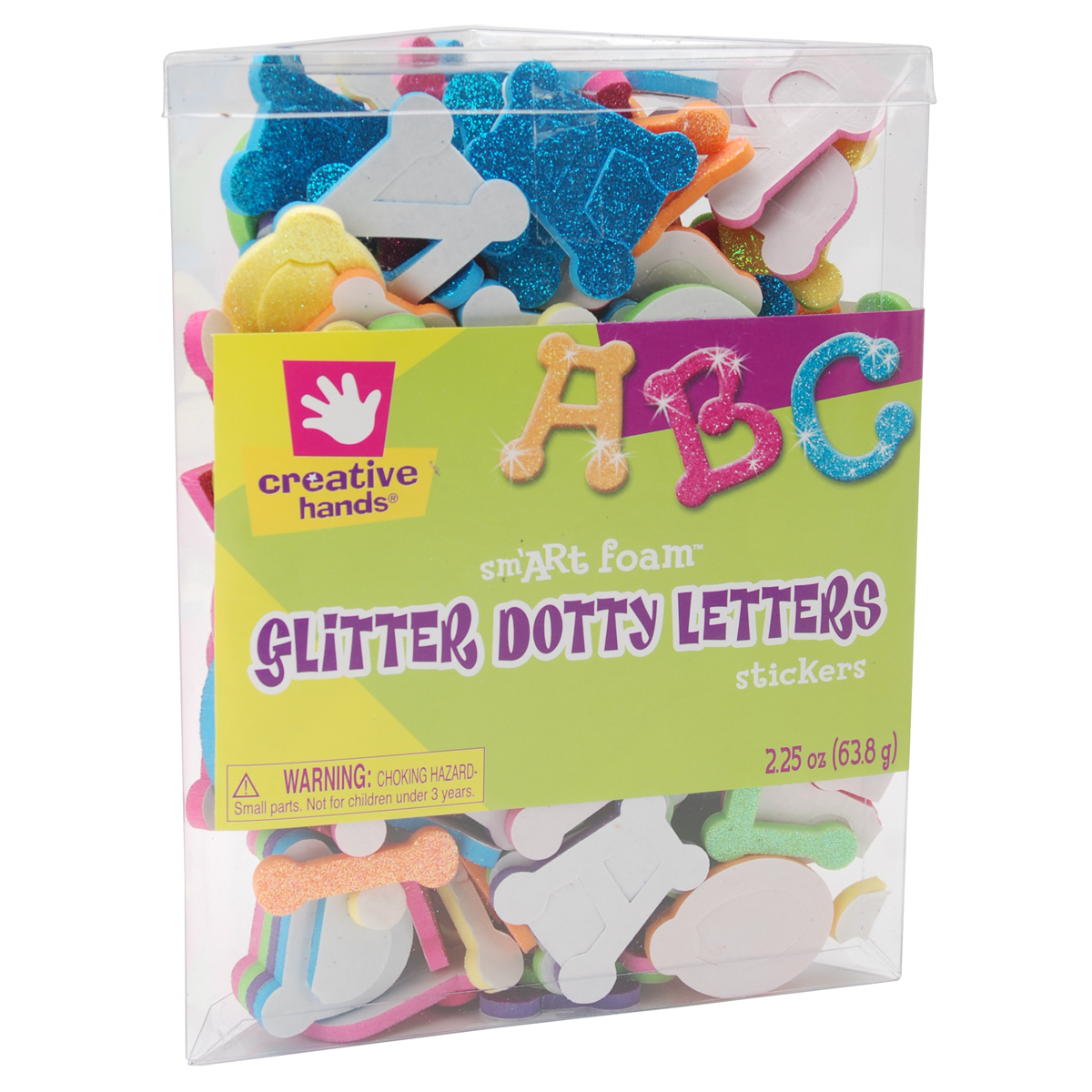 foam glitter stickers 225oz dotty letters walmartcom