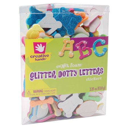 foam glitter stickers 225oz dotty letters