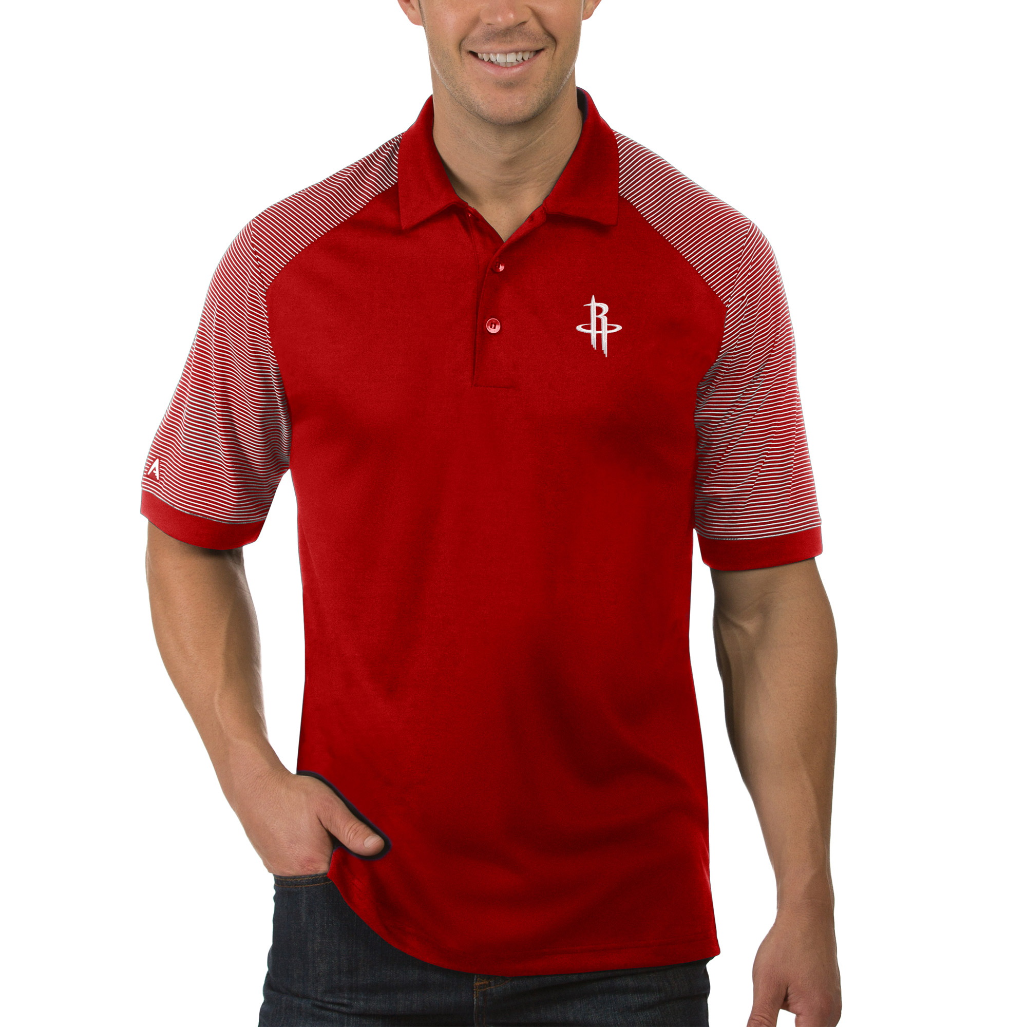Houston Rockets Antigua Engage Polo - Red