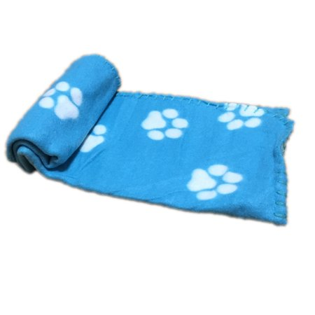 Warm Pet Mat Small Large Paw Print Cat Dog Puppy Fleece Soft Blanket