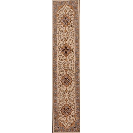 Rugsource 12 Ft Long Traditional Hand Tufted Nain Oushak Oriental Rug Runner For Hallway 11