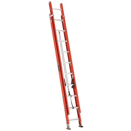 Louisville Ladder FE3220 20 ft. Fiberglass Extension Ladders, Type IA, 300 lbs Load Capacity
