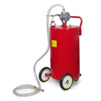 Stark 35Gal Gas Caddy Storage Fuel Transfer Tank Portable Gasoline 35 Gallon Capacity with Rotary Pump and Hose