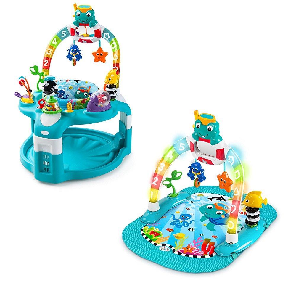 Kids II baby einstein 2-in-1 lights & sea activity gym & ...