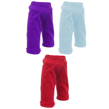 Baby Pants | Cute Baby Clothes for Baby Outfits | Boys & Girls! | by Mato & Hash - 3PK Purple/BbyBlue/Red CA110 (Cute Outfits With Black Leggings And Brown Boots)